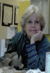 Sue Raymond Working in her studio