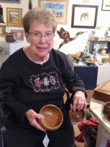 Janet Herring Makes cranberry vine baskets