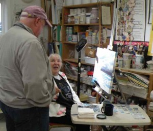 Carol Thompson Working in our studio