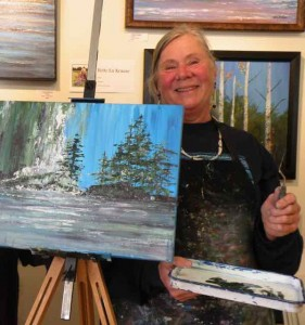 Bette Lu Krause Working in the gallery.